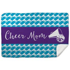 Cheerleading Sherpa Fleece Blanket Mom Stripe