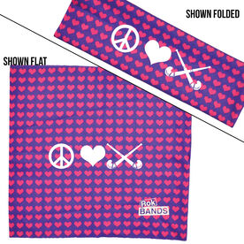 RokBAND Multi-Functional Headband - Peace Love Field Hockey