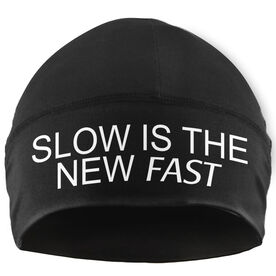 Run Technology Beanie Performance Hat - Slow Is The New Fast
