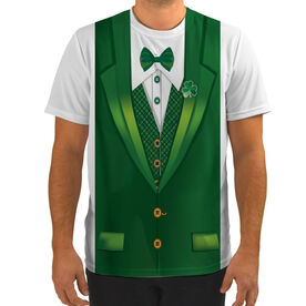 Men's Running Customized Short Sleeve Tech Tee Lucky Leprechaun