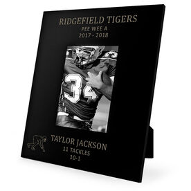 Football Engraved Picture Frame - Linebacker Stats