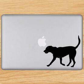 Tennis Dog Removable ChalkTalkGraphix Laptop Decal