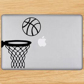Basketball In Hoop Removable ChalkTalkGraphix Laptop Decal