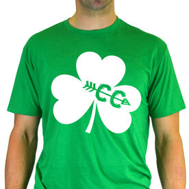 Men's Lifestyle Runner's Tee Shamrock With Cross Country CC