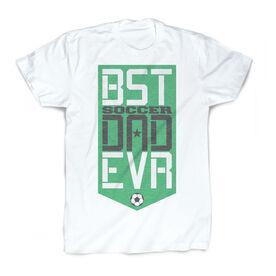 Soccer Vintage T-Shirt - Best Dad Ever Shield