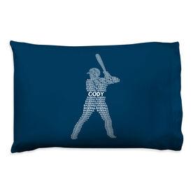 Baseball Pillowcase - Personalized Words