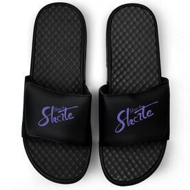 Figure Skating Black Slide Sandals - Born to Skate
