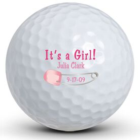 It's A Girl! Pin Golf Balls