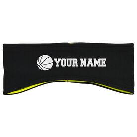 Basketball Reversible Performance Headband Personalized Name Basketball Ball