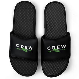 Crew Black Slide Sandals - Team