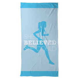Running Beach Towel She Believed She Could