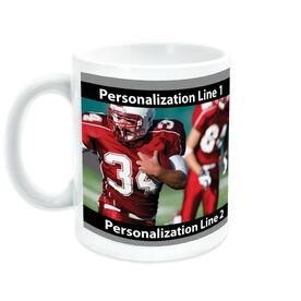 Football Ceramic Mug Custom Photo with Color