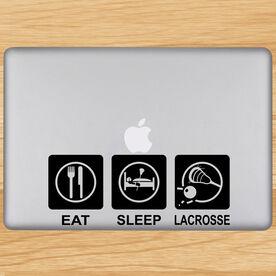 Eat Sleep Lacrosse Removable ChalkTalkGraphix Laptop Decal