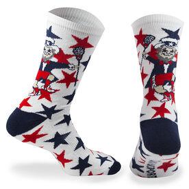 Lacrosse Woven Mid Calf Socks - Fireworks (Red/Blue/White)