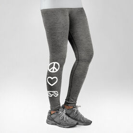 Snowboarding Performance Tights Peace Love Snowboard