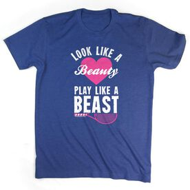 Tennis Tshirt Short Sleeve Look Like A Beauty Play Like A Beast