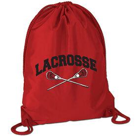 Lacrosse Crossed Sticks Sport Pack Cinch Sack