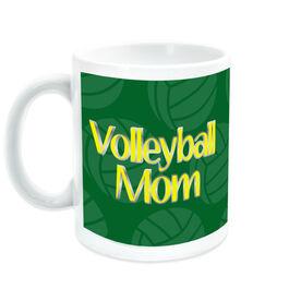 Volleyball Ceramic Mug Mom Pattern