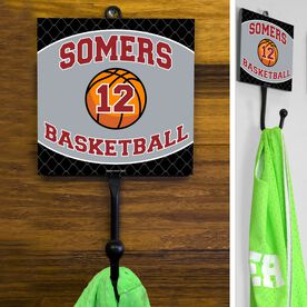 Basketball Hook Personalized Basketball Team with Basketball and Number