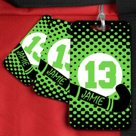Field Hockey Bag/Luggage Tag Personalized Name and Number with Dots
