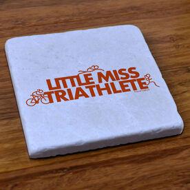 Triathlon Natural Stone Coaster Little Miss Triathlete
