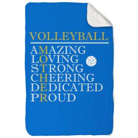 Volleyball Sherpa Fleece Blanket - Mother Words
