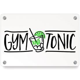 Cross Training Metal Wall Art Panel - Gym And Tonic