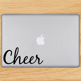 Cheer Written Out Removable ChalkTalkGraphix Laptop Decal