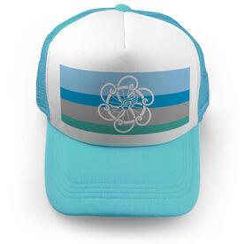 Triathlon Trucker Hat - Tri Logo With Horizontal Stripes