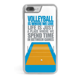 Volleyball iPhone® Case - Volleyball Is Where We Live (Stacked)