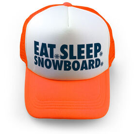 Snowboarding Trucker Hat - Eat Sleep Snowboard