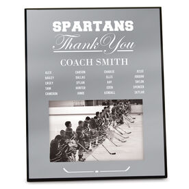 Hockey Photo Frame Thank You Coach Roster
