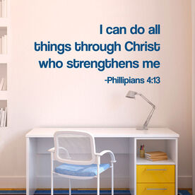 I can do all things through Christ Removable GoneForARunGraphix Wall Decal
