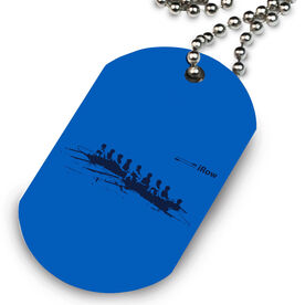 iRow Printed Dog Tag Necklace