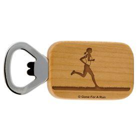 Female Runner Maple Bottle Opener