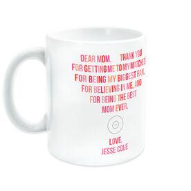 Wrestling Ceramic Mug - Dear Mom Heart
