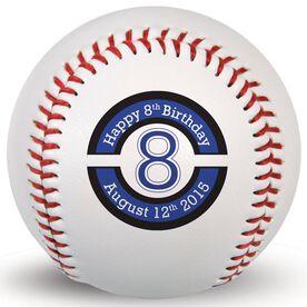 HAPPY BIRTHDAY Custom Baseball