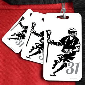 Lacrosse Bag/Luggage Tag Personalized Dodger Silhouette