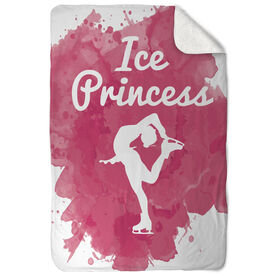Figure Skating Sherpa Fleece Blanket Ice Princess