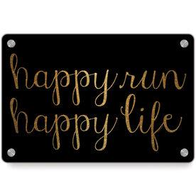 Running Metal Wall Art Panel - Happy Run Happy Life