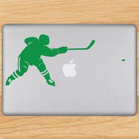 Hockey Slap Shot Removable ChalkTalkGraphix Laptop Decal