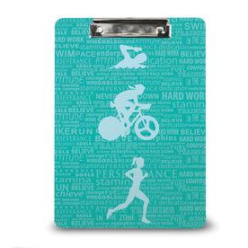 Triathlon Custom Clipboard Tri Inspiration Female