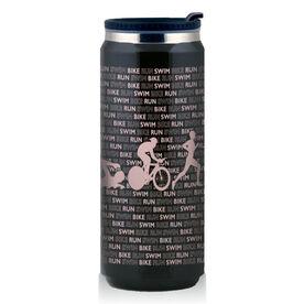 Stainless Steel Travel Mug Swim Bike Run Country