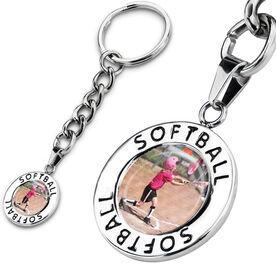 Softball Circle Keychain Your Photo