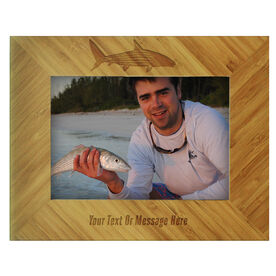 Fly Fishing Bamboo Engraved Picture Frame Bonefish