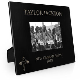 Cheerleading Engraved Picture Frame - Name (Silhouette)