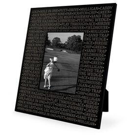 Golf Engraved Picture Frame - Golf Words