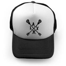 Girls Lacrosse Trucker Hat - LAXR Crossed Arrows