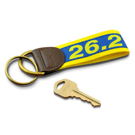 26.2 Marathon Runners Key Fob (Blue/Yellow)
