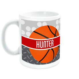 Basketball Ceramic Mug Personalized 2 Tier Patterns with Ball